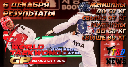 WTF World Taekwondo Grand Prix Final, Mexico-2015. День второй. Результаты.