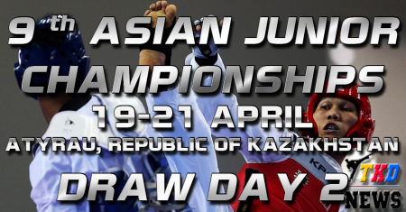 9th Asian Junior Taekwondo Championships & 4th Asian Junior Poomsae Championships. День второй. Сетки.