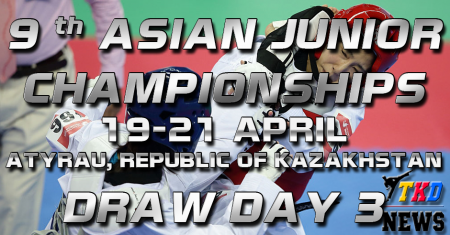9th Asian Junior Taekwondo Championships & 4th Asian Junior Poomsae Championships. День третий. Сетки.