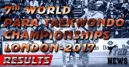 Чемпионат Мира по пара-тхэквондо, Лондон-2017. Результаты.